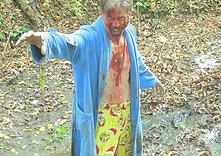Zombie in bathrobe