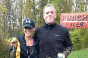 Couple at finish line